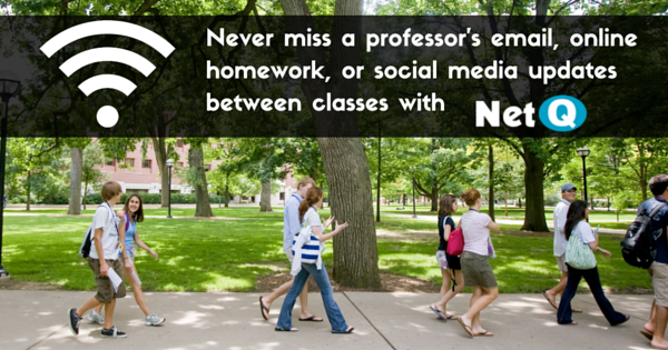 Never miss a professor's email, online homework, or social media updates between classes
